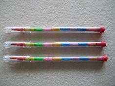 Steckbuntstifte - letztens wiederentdeckt und gekauft. Es gibt sie in der Woolworth.