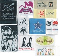 1200 Custom Artwork Taffeta Clothing Woven Labels free font styles colors never fade professional quality free design service and shipping