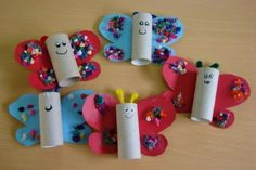 Lavoretti di Carnevale per la scuola primaria Kids Crafts, Arts And Crafts, Paper Crafts, Butterfly Crafts, Toilet Paper Roll, Diy For Kids, Decoupage, Crafty, Activities