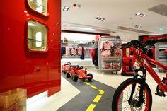 Ferrari store kids section.
