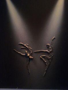Dancing in the dark (paverpol op canvas, naar idee van franse straatkunstenaar)