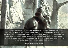 Assassin's Creed Confessions start the series with altair, end the series with altair