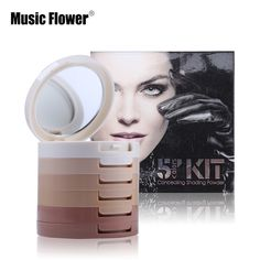 Perfect Cover 5 Colors Kit Concealing Shading Powder Flawless Foundation Base Cover Skin Imperfection Concealer Makeup Palette