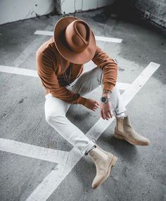 44 Men Boots Ideas Combination With Casual Outfit – style ideas Chelsea Boots Outfit, Botas Chelsea, Look Street Style, Street Styles, Moda Blog, Mens Boots Fashion, Womens Fashion, Fashion Moda, Stylish Mens Outfits