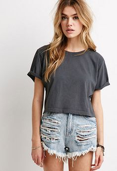 Boxy Rolled Cuff Tee | Forever 21 | #thelatest