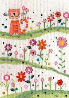 Daisy Patch Cat - Bothy Threads Cross Stitch Kit