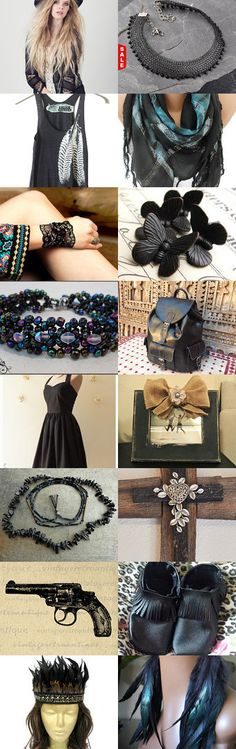 Brilliant in Black by EcoFolk on Etsy--Pinned with TreasuryPin.com