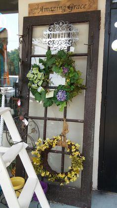 Love this old door! Im going to do this creative door soon.