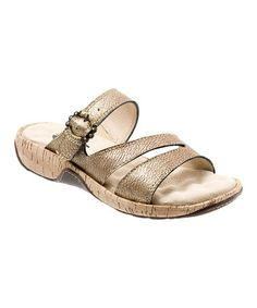 Take a look at this Antique Bronze Bermuda Leather Sandal on @zulily today!