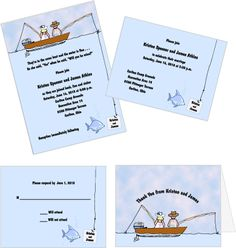 In The Same Boat - Fishing Themed Wedding Invitations