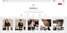 Ook Burberry is een modemerk dat heel actief is op Pinterest. Er is erg gestructureerd omgegaan met de verschillende borden. Zo kan je ook bij Burberry makkelijk vinden of je nu net vrouwen kledij of mannen kledij nodig hebt. Ook heb je borden zoals: gifts, Fragnance,... Ook een leuk modemerk om te volgen op Pinterest. https://www.pinterest.com/burberry/