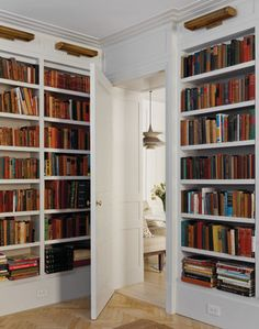 This Storage E Achieves A Ally Worn Feel Of Clic In Home Library While Keeping The Room Up To Date With Fresh White Bookshelves
