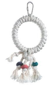 """Comfortable for your Gliders feet, the Cotton Ring Swing will bring hours of enjoyment and activity to any Sugar gliders cage. Size - 6"""" x 3.5"""""""