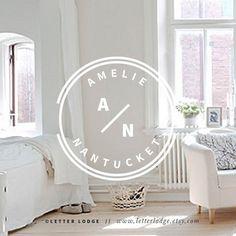 Modern Logo / White Circle Wreath Minimal Logo by LetterLodge                                                                                                                                                                                 More