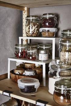 The perfect pantry? Coming right up! The IKEA IVAR storage furniture system is designed so you can combine the different pieces to suit you and your space by creating the combination of shelves, drawers and cabinets you want.