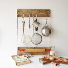 Kitchen Utensil Storage Rack Baking Center by #AlegriaCollection #atsocialmedia