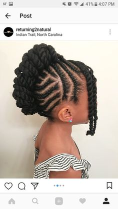 Protective Styles For Kids Hair - Protective styles for kids & schutzstile für kinder & styles de protection pou - Shaved Side Hairstyles, Lil Girl Hairstyles, Black Kids Hairstyles, Natural Hairstyles For Kids, Kids Braided Hairstyles, Natural Hair Styles, Hairstyles 2018, African Hairstyles, Toddler Girls