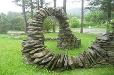 "Previous pinner: ""WOW!  No mortar - dry stone...  Very impressive."""
