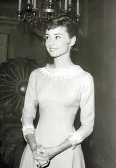 """"""" Audrey Hepburn on the set of 'War and Peace' 1956 """""""