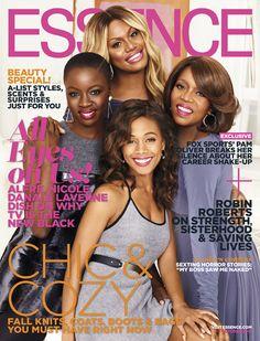 Danai Gurira, Laverne Cox, Nicole Beharie, and Alfre Woodard for Essence Magazine October 2014
