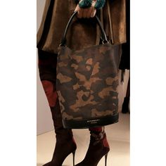 c9f1d9b64058 Burberry s Bucket Bag in Camouflage Suede Burberry Bucket Bag, Bucket  Handbags, Burberry Prorsum,