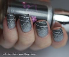Love the ombre with the stripes. Gradient Laser Mani