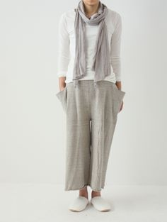recycled cotton relax pants