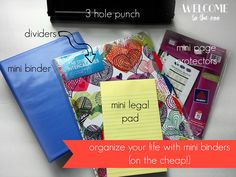 Organize Your Life with Mini Binders {on the cheap!} +Printable