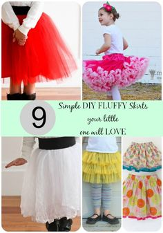 Simple DIY Fluffy Skirts