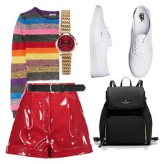 """Untitled #8"" by mv2722 on Polyvore featuring Miu Miu, Valentino, Vans and M&Co"