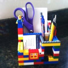 Build your own Lego pencil holder. Our kids did this and they had so much fun. Now they WANT to keep track of their pencils!