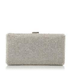 DUNE ACCESSORIES ELECTRIFY - Diamante Hard Case Clutch Bag - silver | Dune Shoes Online