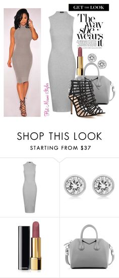 """""""GREY x MATTER"""" by dopegeezy ❤ liked on Polyvore featuring Topshop, Michael Kors, Chanel, Givenchy, Gianvito Rossi, women's clothing, women, female, woman and misses"""