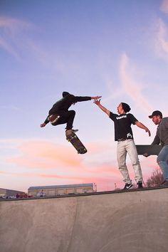 Skate high five!
