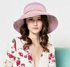 Elegant bow spell color sun hat for women summer beach straw bucket hats. SombrerosSombreros  De Sol Para MujeresSombrero ... b722a16b17a