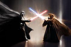Obi Wan Kenobi vs. Darth Vader
