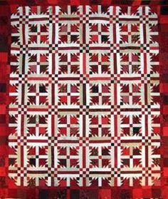 Red and White 'Dove in the Window' quilt pattern by Glad Creations