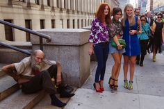 Vacuous Fashionistas, doing the street style in urban settings, overlooking the homeless and the graffiti. And Republicans and Libertarians. Sick of them. The Big, Long, 30-Year Conservative Lie