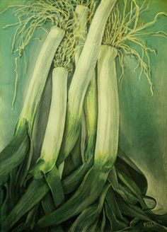 untitled leeks no.2 Vegetables, Painting, Collection, Art, Art Background, Painting Art, Kunst, Vegetable Recipes, Paintings