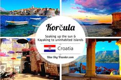 Korčula, a beautiful medieval town in the Adriatic, is a favorite destination to soak up the Croatian sun, kayak in the beautiful clear-blue waters and eat some fresh seafood with gorgeous sunsets.