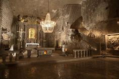 A church in S.Poland (15km from Krakow) created from nothing but SALT !!!