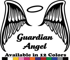 Angel Guardian Decal - Car Window Decal, Bumper Sticker,Laptop Decal,Wall Decal #VicStickerDecals #SelfAdhesiveVinylDecal