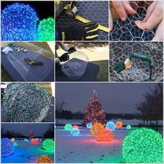 Your homes outdoor with chicken wire light balls cheap diy crafts for home decor videos top . Outdoor Christmas, Christmas Home, Christmas Lights, Christmas Decorations, Diy And Crafts Sewing, Crafts To Sell, Christmas Light Installation, Navidad Diy, Snacks Für Party