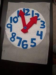 Quiet Book Ideas - a clock