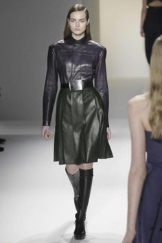 Calvin Klein Collection Fall Winter Ready To Wear 2013 New York, Leather on Leather, Silver Belt Buckle