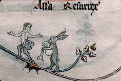 Aunque otras liebres se pasan el día tocando la gaita... Verdun - BM - ms. 0107, f. 101. Breviary, Use of Verdun. Metz, c.1302-1305.