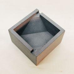 concrete ashtray by GoldzahnSupply on Etsy