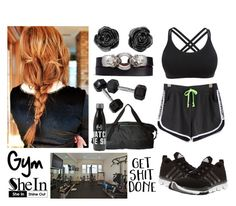 """""""411->Gym"""" by dimibra ❤ liked on Polyvore featuring WithChic, adidas, The North Face and Alexander McQueen"""
