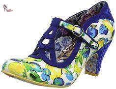 Irregular Choice Nicely Done, Escarpins femme - bleu - Blue (Navy Floral), 37 1/3 - Chaussures irregular choice (*Partner-Link)