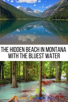 The Hidden Beach At Avalanche Lake In Montana Has Clear Waters That Rival The Caribbean Hike to this hidden beach in Montana with clear blue water. It's a perfect summer vacation destination in the mountains, right in Glacier National Park. Vacation Places, Vacation Destinations, Vacation Spots, Places To Travel, Places To Visit, Summer Vacations, Summer Vacation Ideas, Greece Vacation, Summer Travel